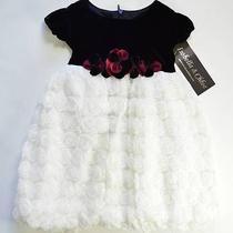 Isobella & Chloe Russian Doll White Girl's Dress Size-24m Sleeveless Style-5303 Photo