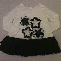 Isobella & Chloe Star Flower Knit Dress Tunic Black White 4t From Nordstrom Euc Photo