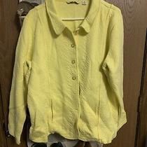 Issac Mizrahi Live Yellow Button Up Jacket 1x (See Desription)  Photo