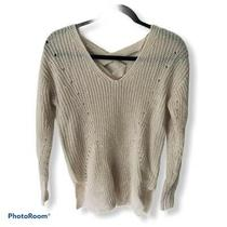 Its Our Time Thick Knitted Women or Junior Sweater Beige/blush Undertone Sz Xs Photo