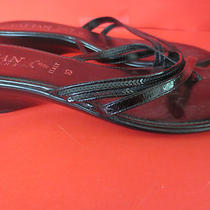 Italian Shoemakers Beautiful Black Fancy Flip Flop Sandals 10m Italy Photo
