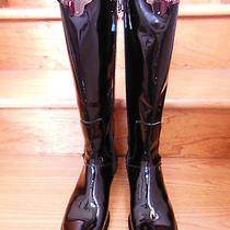 Italy Baldinini Trend Black Leather Riding Fashion Boots Rare Unique Sz Us 11  Photo
