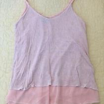 Italy Nude Blush Dual Layer Lagenlook Vest Top Size 10/12 Photo