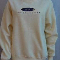 Ithaca College Mom Sweatshirt S Jansport Pale Yellow Vgc Photo