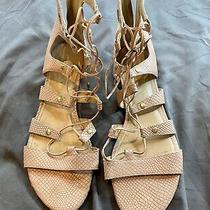 Ivanka Trump Women's 'Calli' Lace Up Gladiator Sandal Size 9.5m Blush Leather  Photo