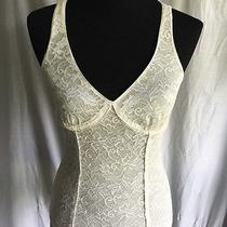 Ivory Lace Express v Neck Camisole Tank Top Shirt S Photo
