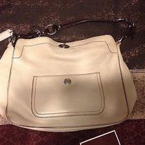 Ivory/ Off White Coach Handbag 398 Photo