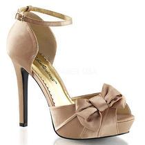 Ivory Off White Satin Platform Heels Bridal Wedding Prom Shoes Size 6 7 8 9 10 Photo