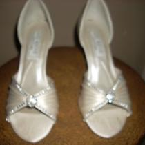 Ivory Wedding / Prom Shoes With Rhinestones Size 5m Photo