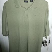 Izod Golf S/s Heather Green Cotton Polo Shirt- Mens Xxl - Nice Photo