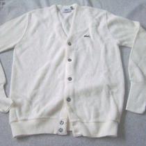 Izod Lacoste Acrylic Cardigan Ivory Size L C10-44 Photo