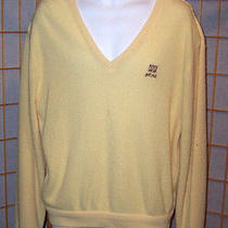 Izod Lacoste Men's L Yellow v Neck Op Golf Club Pullover Sweater Overland Park Photo