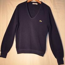 Izod Lacoste v Neck Sweater Orlon Acrylic Mens Small Photo