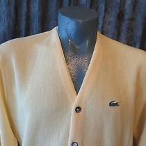 Izod Lacoste Vintage 1970's Orlon Acrylic Cardigan Sweater Mens Large Photo