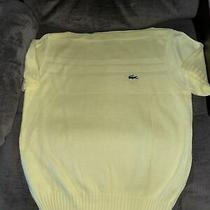 Izod Lacoste Vintage Sweater Yellow Color Womens European Size 40 (Small) Photo