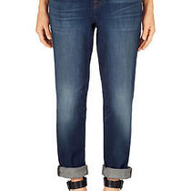J Brand 1214 Aidan Mid-Rise Boy-Fit Jeans in Hot Shot Size 27 Photo