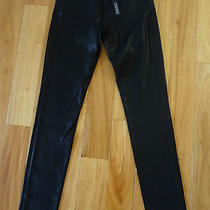 J Brand 620 Lacquered Skinny Jeans Black 25 Nwt Photo