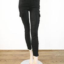 J Brand Ashton Military Cargo Jeans in Lacquered Black Quartz 25 298 6817b Bmt Photo