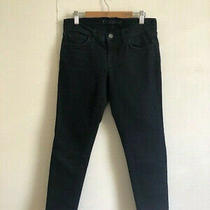 J Brand Black Jeans With Raw Hem Size 26 Excellent Condition Photo