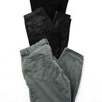 J Brand  Calvin Klein Womens Stealth Skinny Jeans Green Black Size 24 Lot 3 Photo