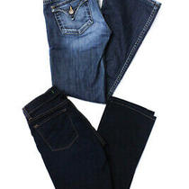 J Brand Hudson Womens Cigarette Leg Jeans Blue Cotton Size 28 Lot 2 Photo
