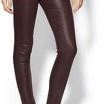 J Brand Jeans 485 Mid-Rise Super Skinny in Lacquered Pinot Jeans Sz 24 Photo