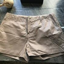 J Brand Jeans Waxed Citton Leather Look Shorts Nutmeg Color Size 29 Photo