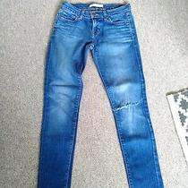 J Brand Low Rise Skinny Leg Blue Jeans Style 910 Ripped Size 25 (Uk 6) Photo