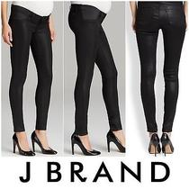 J Brand Mama J Sz 27 Lacquered Black Skinny Jeans Maternity Jeans  Photo