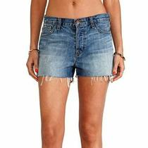 J Brand Size 31 Carly High Rise Cut Off Denim Shorts 178. Mint Photo