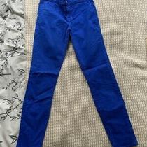 J Brand Skinny Leg Royal Blue Women's Jeans. Size Us 26. Rrp 280. Photo