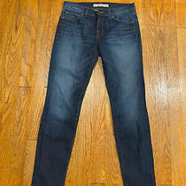 J Brand Womens Mid Rise Skinny Jeans Blue Dark Wash Size 26 Photo