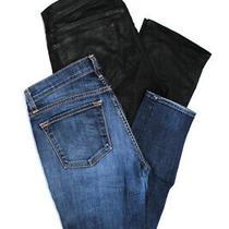 J Brand Womens Zipper Fly Straight Leg Cropped Jeans Blue Black Size 29 Lot 2 Photo