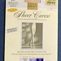 J.c. Penney Sheer Caress 20 Control Top Sheer Panty Hose Women's Average Blush Photo