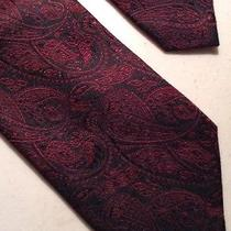 J. Campbell Designer Men's Tie Necktie Paisley All Silk Hand Made 58.25 X 3.25 Photo