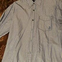 J. Campbell Large Blue Stripped Mint Condition Dress Shirt Photo