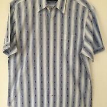 J. Campbell Los Angeles 100% Cotton Woven Short Sleeve Button Shirt Men's Sz L Photo