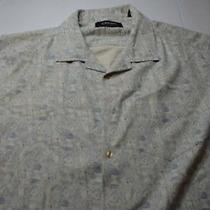 J. Campbell Los Angeles 100% Silk Artwork Short Sleeve Shirt Xl Extra Large Photo