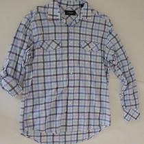 J. Campbell Los Angeles L/s Casual Shirt Blue White Plaids & Checks Size Medium Photo