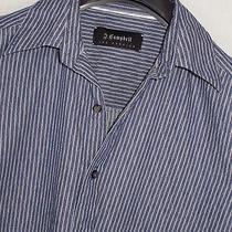 J. Campbell Luxurious Slightly Textured Striped Shirt Sz. M Photo