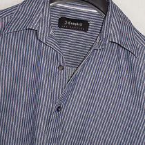 J. Campbell Luxurious Slightly Textured Striped Shirt Sz. M Photo