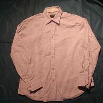 J Campbell Purple Striped Button Up Shirt Sz L Long Sleeve Textured Fabric Photo