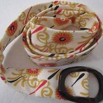 J Crew  100% Cotton Belt Floral Print  S/m 41