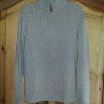 J Crew 100% Lambs Wool Brown 1/4 Zip Sweater Men's M Size Medium Free Shipping Photo
