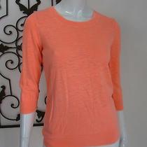 J Crew 3/4 Sleeve Blouse Size S Small Orange  Photo