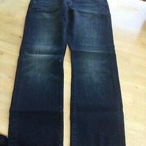 J.crew 484 Slim Fit Dark Worn Mens Blue Jeans Waist 34 Leg 30.             C Photo