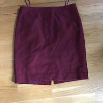 J Crew 80% Wool Pencil Skirt Holiday Red Size 10 Photo