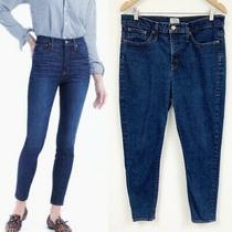 J. Crew 9 High-Rise Toothpick Blue Jeans Sz 32 Photo