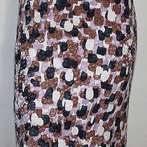 J. Crew Art Print Skirt 0 Photo