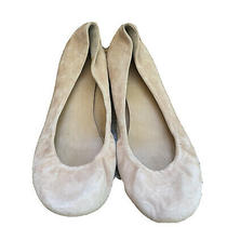 J. Crew Ballet Flats Shoes Size 8 Pale Blush Pink Suede Leather Slip-on A3 Photo